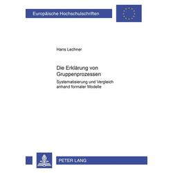 Die Erklärung von Gruppenprozessen als Buch von Hans Lechner
