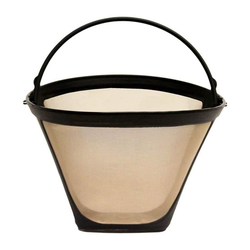 kueatily Filterbälle Universal Permanenter Kaffeefilter Permanenter Kaffee mit Edelstahlgewebe Kaffeefilter Kaffee-Tropfer Kaffeefilter Mesh Basket Cone Pouring