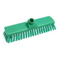 Haug Besen, 330 x 70 mm, mittel, Hygienebesen mit Polyesterbesatz, Farbe: grün