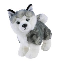 Teddys Rothenburg Kuscheltier Hund Husky 25 cm stehend (Plüschhusky Stofftier Plüschtier)