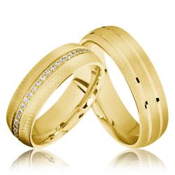 Trauringe Schwelm 585er Gelbgold - 3697
