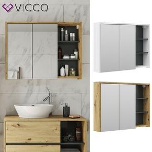 Badmöbel Spiegelschrank Hochschrank Waschtischunterschrank Viola Vicco