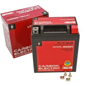 Carbon Electric Gel Batterie UTX7L-BS 12V 7Ah YTX5L-BS Wartungsfrei Versiegelt Akkumulator Motorrad Roller Motorradbatterie Rollerbatterie