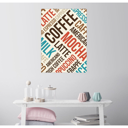 Posterlounge Wandbild, Kaffee, Latte, Mocha 100 cm x 130 cm