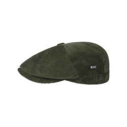 Lipodo Flat Cap (1-St) Cordcap mit Schirm gr�n XL (60-61 cm)