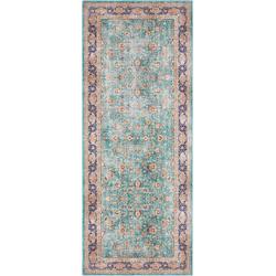 Läufer Keshan Maschad, ELLE Decor, rechteckig, Höhe 5 mm, Orient-Optik grün