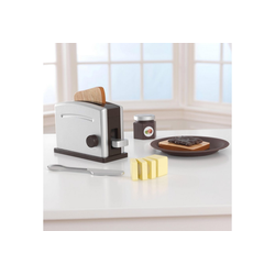 KidKraft® Kinder-Toaster Toaster-Set (11tlg), (Set, 11-tlg), mit beweglichen Toastergriff braun