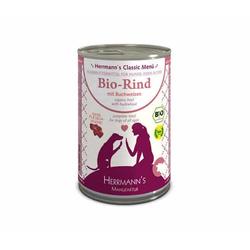 Herrmanns Bio Hundefutter Rind Menu 1 mit Buchweizen, Apfel, Birne