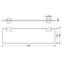 Wandregal System 815, Set, 450 mm, Wandmontage