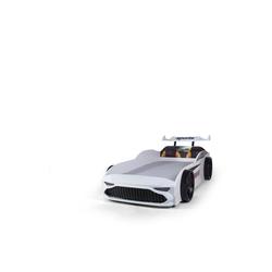 Möbel-Lux Kinderbett GT18, Kinderbett Autobett GT18 Turbo 4x4 mit Spoiler weiß