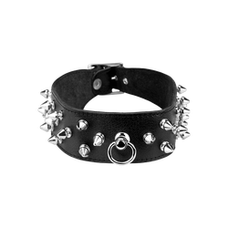 Rimba Breites Leder-Halsband mit Killernieten