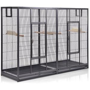 Montana Cages Vogelkäfig Melbourne II - Antik, Doppelkäfig, Käfig XL, Voliere für Sittiche & Finken