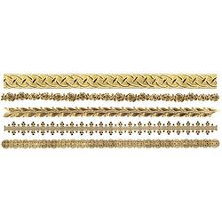 Wachsborten, gold, 24 cm, 5 Stück