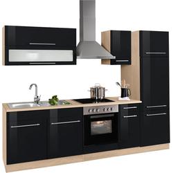 HELD MÖBEL Küchenzeile Eton, ohne E-Geräte, Breite 270 cm schwarz