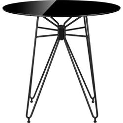 COUCH♥ Esstisch Macht die Runde, In 2 Größen 80 cm x 75 cm x 80 cm