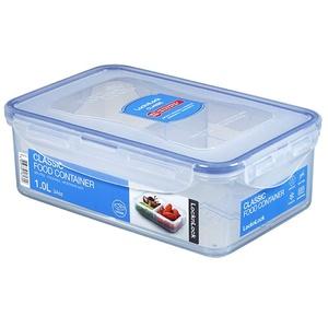 LocknLock PP Classic Vorratsdose mit Unterteilung, 1 L, 205 x 134 x 69 mm, 100 % luft- und wasserdicht, Cleveres Verschluss-System, Snackbox mit Fächern für Kühlschrank & Gefrierfach