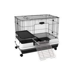 PawHut Tiertransportbox Transportbox mit Rollen