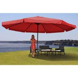 Sonnenschirm Carpi Pro, Gastronomie Marktschirm mit Volant Ø 5m Polyester/Alu 28kg ~ bordeaux ohne Ständer