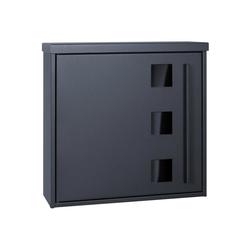 MOCAVI Briefkasten MOCAVI Box 103G Design-Briefkasten anthrazit-grau (RAL 7016) mit Sichtfenster