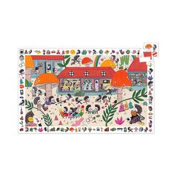DJECO Puzzle Wimmelpuzzle Die Igelschule, 35 Teile, Puzzleteile