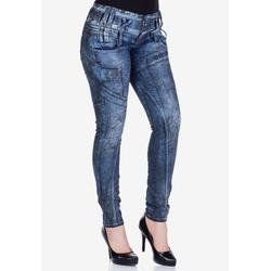Cipo & Baxx Slim-fit-Jeans mit Dreifachbund 31