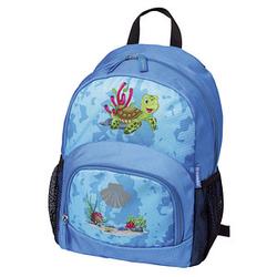 DONAU Kindergartenrucksack Schildkröte Kunstfaser blau