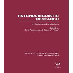 Psycholinguistic Research (PLE: Psycholinguistics): eBook von
