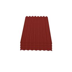 Onduline Wellplatte Onduline Easyline Dachplatte Wandplatte Bitumenwellplatten Wellplatte 4x0,76m² - rot, Wellig, 3.04 m² pro Paket, (4-St)