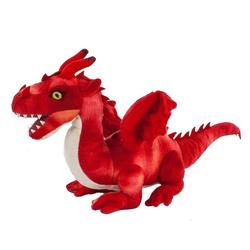 Teddys Rothenburg Kuscheltier Drache rot 40 cm (mit Schwanz) (Stoffdrache Plüschdrache, Stofftiere Drachen Plüschtiere)