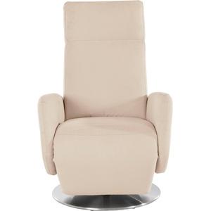 Places of Style TV-Sessel Kobra, Fuß: Drehteller aus Edelstahl, Gasdruckfeder beige Relaxsessel Sessel
