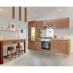 Küche Küchenzeile Küchenblock Einbauküche Leerblock 270 cm Buche respekta