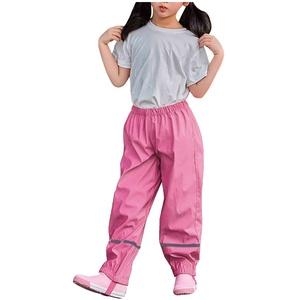 Unisex Kinder Regenlatzhose, Wind- und wasserdichte Matschhose Atmungsaktiv Budddle-Hose für Mädchen Jungen Outdoorhose Latzhose Skihose Wanderhose