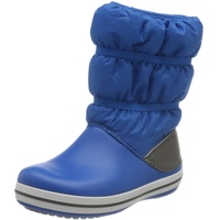 Crocs Unisex-Kinder Crocband Winter Boot Kids Schneestiefel, Bright Cobalt Light Grey, 24-25 EU