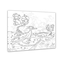 Bilderdepot24 Wandbild, Drache - Ausmalbild 80 cm x 60 cm