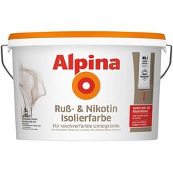 Alpina Wandfarbe Ruß- und Nikotin Isolierfarbe, 5 Liter, weiß