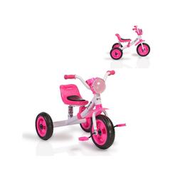 Moni Dreirad Dreirad Felix, mit EVA-Reifen, Melodien, Vorderlicht ab 3 Jahre rosa