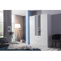 rauch BLUE Drehtürenschrank Buchholz weiß 135 cm x 197 cm x 54 cm