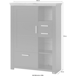 set one by Musterring Highboard york, Typ 25