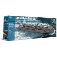 Italeri 510005620 1:35 Schnellboot Typ S-38/4.0cm Flak 28