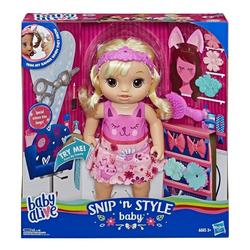 Hasbro Puppen Accessoires-Set Hasbro E5241 - baby alive - Haarzauber Baby, sprechende Puppe mit Zubehör, 30 cm