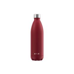 FLSK Isolierflasche, FLSK Trinkflasche Isolierflasche Edelstahl 1000ml Doppelwandig Thermoflasche rot