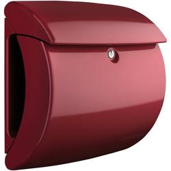 Burg Wächter Briefkasten Piano 886 M, in Klavierlack-Optik, Merlot rot