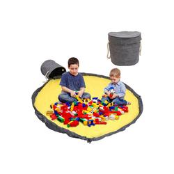 Einfeben Aufbewahrungstasche Aufbewahrung Beutel Spielzeug Oxford-Stoff,Spielzeug Speicher Tasche, Spielzeug Aufbewahrung mit Deckel, 150cm Großes Spielzeugsack grau