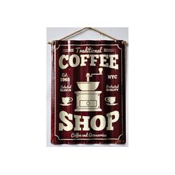 HTI-Line Metallschild Blechschild Coffee, Blechschild bunt