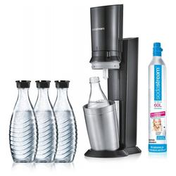 SodaStream Wassersprudler Crystal 2.0 Aktionspack - Wassersprudler - titan