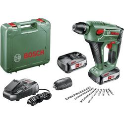 Bosch Home and Garden Uneo Maxx SDS-Quick-Akku-Bohrhammer 18V 2.5Ah Li-Ion inkl. 2. Akku, inkl. Koff