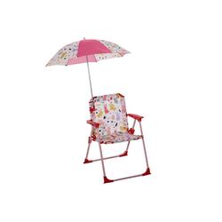 Outsunny Stuhl Kinder-Campingstuhl mit Sonnenschirm rot