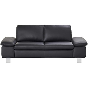 smart Sofa schwarz - Leder Finola ¦ schwarz ¦ Maße (cm): B: 181 H: 83 T: 94