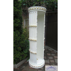 SK-1859 dekoratives Regal als Säulenregal Vitrine Bar Dekoregal Standregal