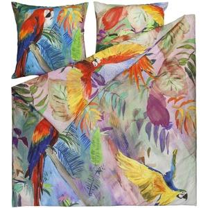 ESTELLA Mako-Satin Bettwäsche Ara Multicolor 1 Bettbezug 155 x 220 cm + 1 Kissenbezug 80 x 80 cm